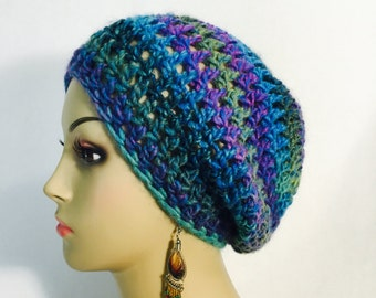 Blue Multi Slouch Hat