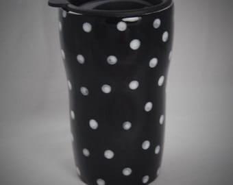Ceramic Travel Mug/Tumbler with a lid