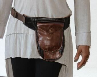 Leather Belt Bag,Leather Waist Bag,Leather Hip Bag, Leather Festival Bag, Leather Belt Purse