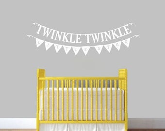 Twinkle Twinkle Little Star Banners - Nursery and Kid's Bedroom Wall Decals