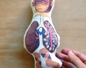 ONE ONLY - mini Organic Cotton Hemp Doll  - Monkey Lungs Socks