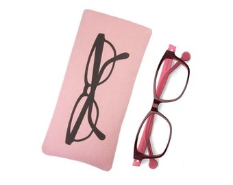 Pink Glasses Case, Mothers Day Gift, Soft Glasses Pouch, Reading Glasses Case, Gift for Her