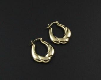 Vermeil Hoop Earrings, Gold Plated Earrings, Sterling Silver Earrings, Gold Hoop Earrings, Sterling Earrings
