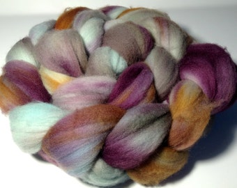 Hand Dyed Merino Roving - Anticipation - Merino Spinning Wool - Merino Felting Wool - 4 ounces Hand Dyed Top