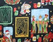 Los Tres Reyes Christmas Three Kings Mexico Santa Alexander Henry Fabric Yard