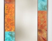 """54"""" x 27"""" Metal and Copper Mirror"""