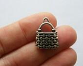 2 Handbag charms antique silver tone CA114