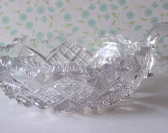 Vintage Imperial Glass Bowl Nappy