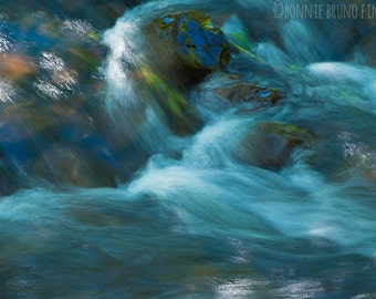 FINE ART PHOTOGRAPHY Down by the Stream No1 - wall decor for home, office, or dorm - cool dreamy water images - frameable nature prints