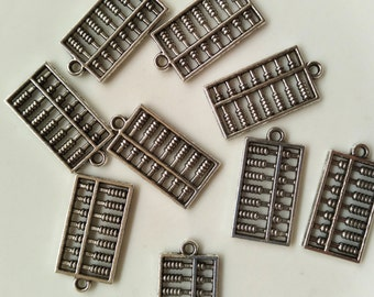 10 pcs Abacus Charms - 25mmX13mm Metal Charms, Counting Frame Charms, Alloy Charms