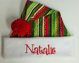 Personalized  Santa Hats  Holiday hats Christmas Hat