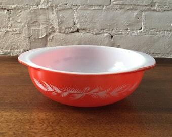 "Rare! ""Holiday Casserole"" Large Pyrex Cinderella Nesting Bowl- Antique/Vintage"