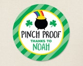 """St. Patrick's Day Stickers - """"Pinch Proof"""" - Sheet of 12 or 24"""