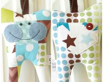 Patchwork Tooth Fairy Pillow (brown)-READY TO SHIP