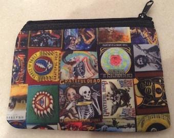 Grateful Dead zipper wallet
