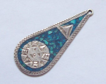 Mexican Sterling Silver Teadrop Pendant