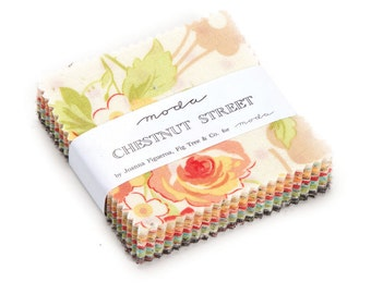"Chestnut Street Mini Charm pack 2.5 "" square by Fig Tree Quilts for Moda - quilt fabric"
