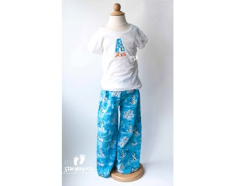 Custom Shirt and Lounge Pants Outfit - Personalized Olaf from Frozen Themed Outfit for Baby or Toddler