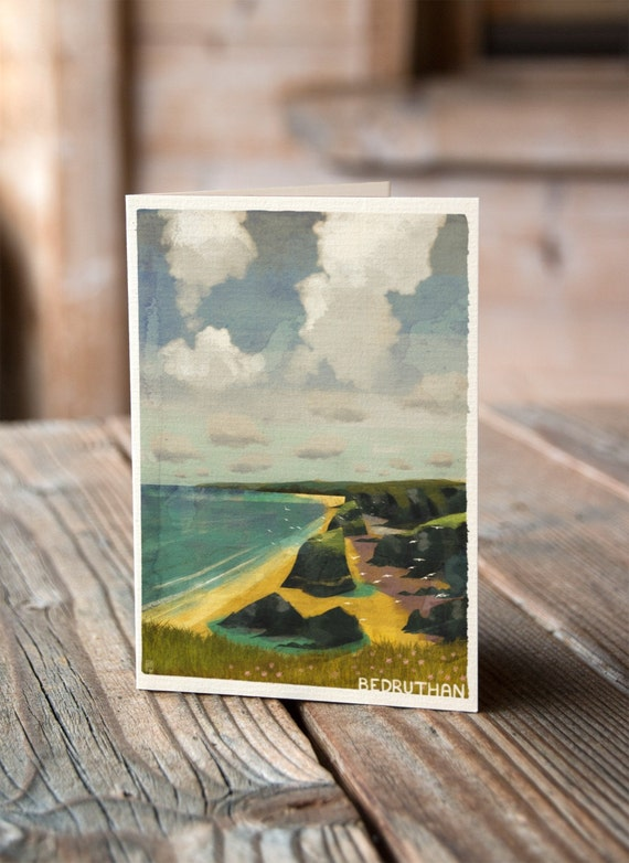 Cornish Coasts - Bedruthan Steps Greetings Card