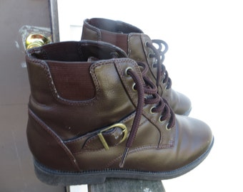 vintage brown womens ankle boots size    7
