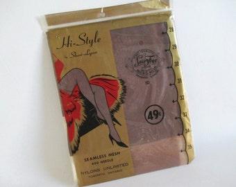 Vintage Sheer Nylon Stockings Size 10 Spice