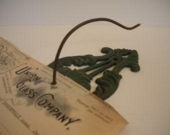 Vintage Cast Iron Receipt Hook