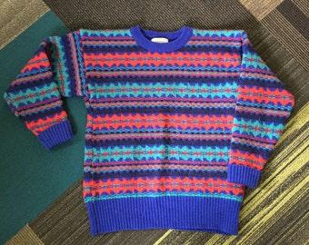 Vintage LL Bean Sweater, Wool SKi Sweater , Small