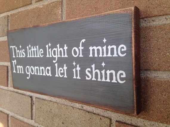 This Little Light Of Mine Sign Wood Signhome By Dawnspainting