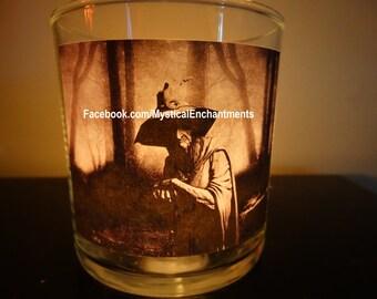 Halloween Watcher in the Woods votive-tea light candle holder