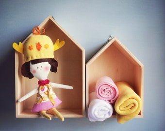 1 CHICK handmade Doll - Wall hanging doll - KIDS decoration