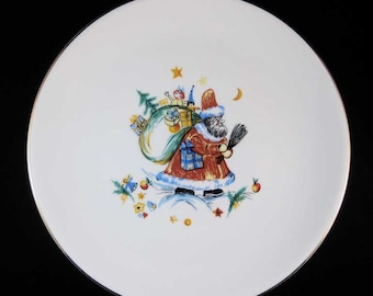 Hutschenreuther 1814 Hohenberg German Christmas Santa Claus Plate