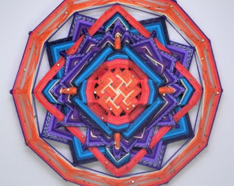 Living Truth, a 24 inch, wool yarn, Ojo de Dios, by  Inga Reduced price