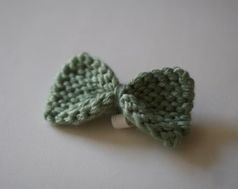 Small dog bow/bow tie in heathered aqua
