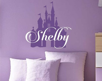 Princess Castle Name, Vinyl Wall Lettering, Vinyl Wall Decals, Vinyl Decals, Vinyl Lettering, Wall Decals, Princess Decal, Castle Decal