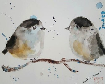two winter birds