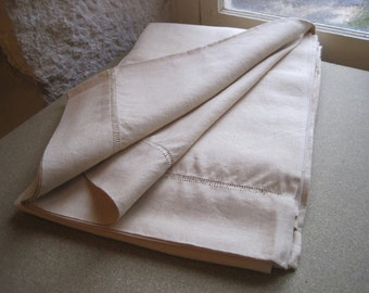 XL kingsize unused French pure linen sheet, heavenly fabric.  Extra wide bedding, sheeting, curtain, bed cover