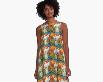 Peace Flew In Dove A-line Dress Women's sizes XS~2XL Beautiful Original Art
