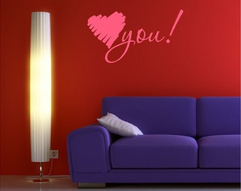 Heart You Wall Decal Removable Heart Wall Sticker