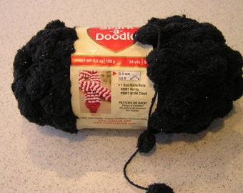 Discontinued Red Heart 'Spark-a-Doodle' Yarn - Color Night Light - FREE Pattern & SHIPPING!