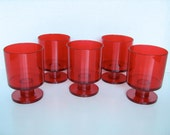 Set of 5 Vintage Mid Century Modern Georges Briard Space age plastic stackable cups