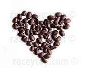 Coffee Art, Brown White Wall Art Kitchen, Food Photography, Coffee Prints, Heart Print, Brown Wall Art, Coffee Heart Photo, Kitchen Prints