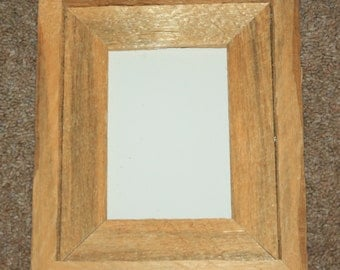Picture Frame - 5 X 7 - Rustic Wood - Barbed Wire - Western - Recycled
