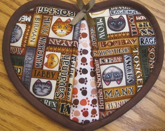 Breeds of Cats Potholders - Set of 2