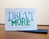 Dream More   card  ST133