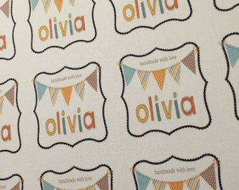 Fall Fancy Quilt Label Personalized