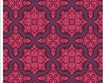 Joel Dewberry Heirloom Garnet Tile Flourish Cotton Fabric