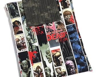 The Walking Dead Zombies Comic Book Handmade Quilted Padded Tablet Case iPad