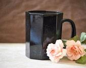 Arcoroc Octime Black Coffee Mug/Black Hot Chocolate Mug/8 oz. Coffee Cup/1992