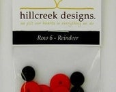 Reindeer Button Kit Tis the Season Button Pack from Hillcreek Designs BBOMROW6-QDD