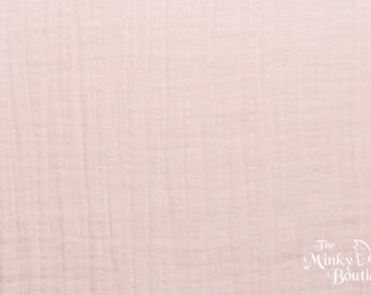 Double Gauze Cotton Embrace - Blush